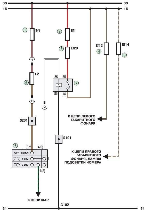 Схема 3г. Соединения приборов