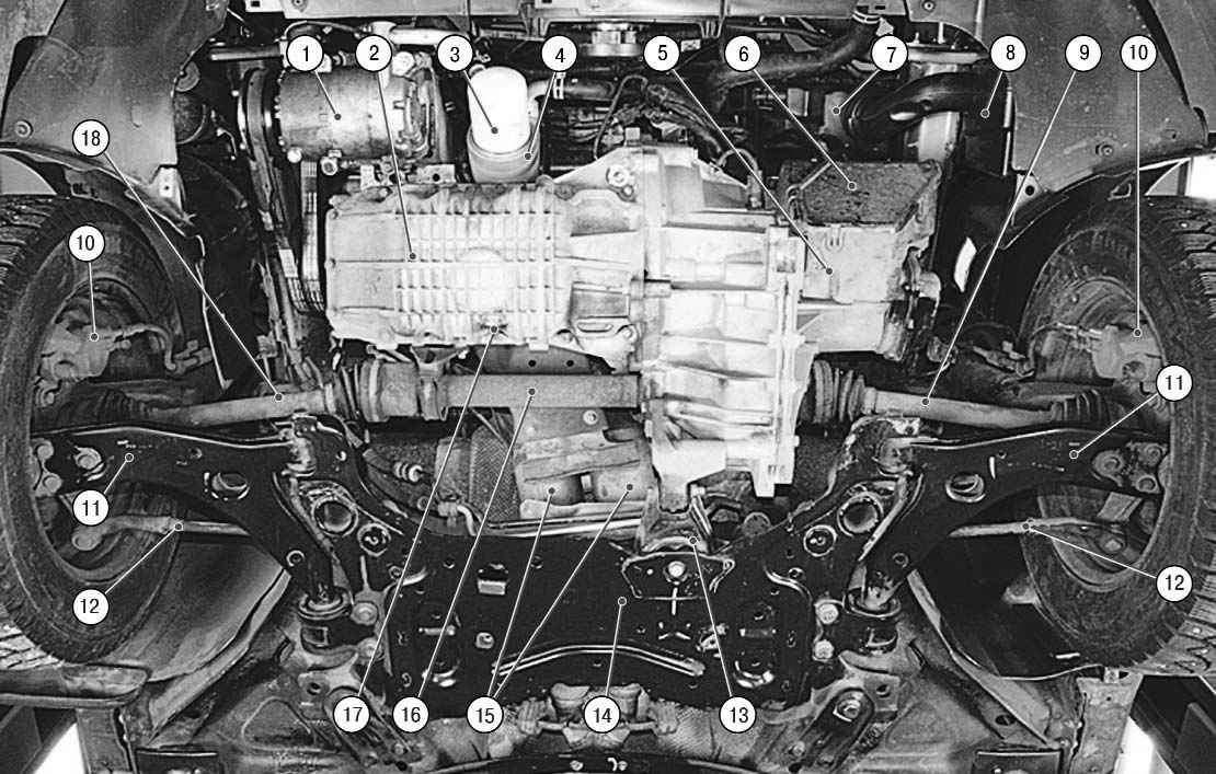 2 – двигатель;