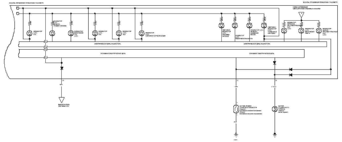 Электрическая схема приборов