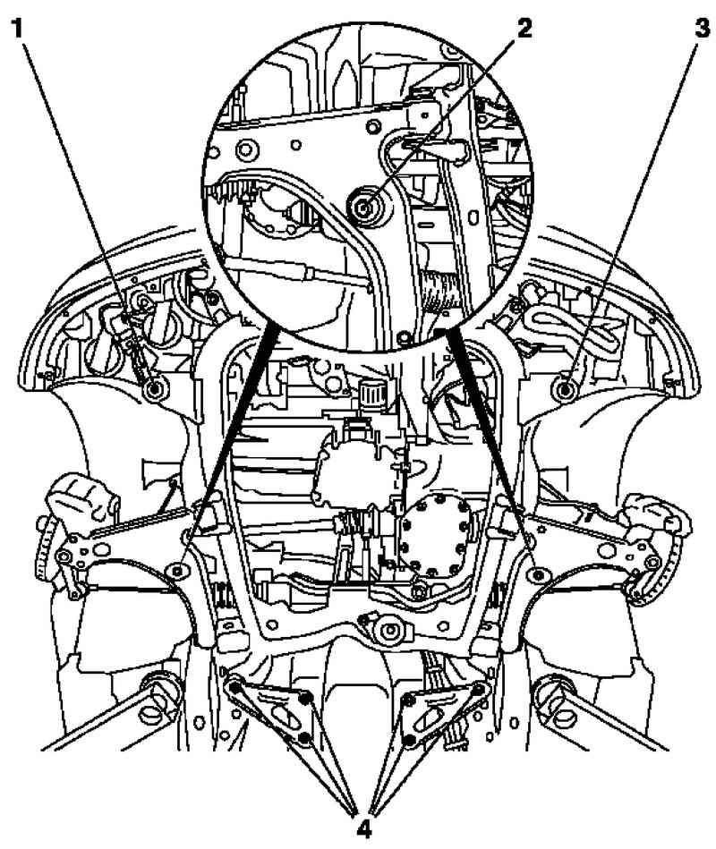 Установите модуль передней оси