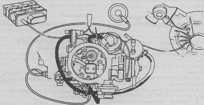 карбюратор 406 двигатель схема шлангов
