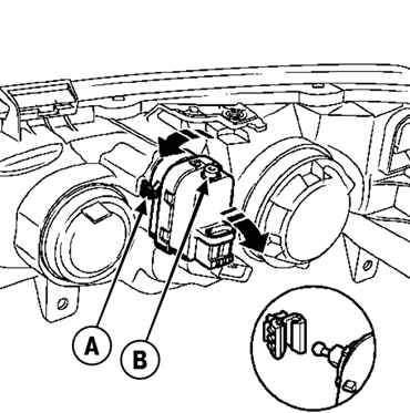 9. Схемы электрооборудования Renault Megane 2 (Рено Меган 2). 7.3.13 Снятие