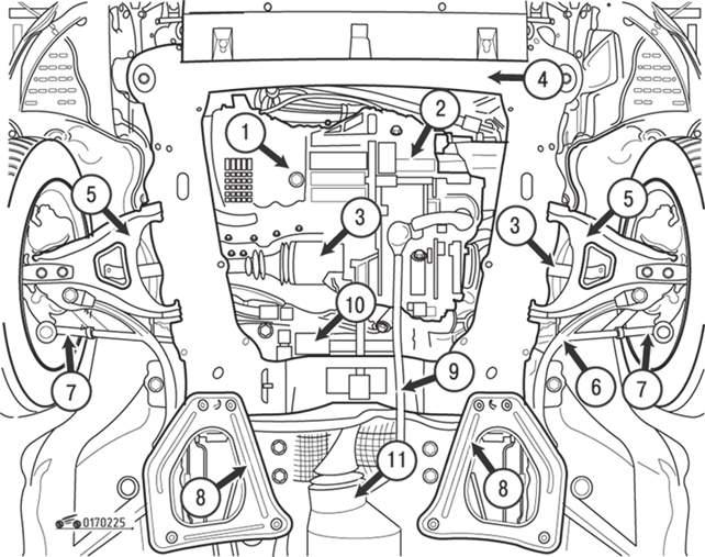 Вид передней части автомобиля
