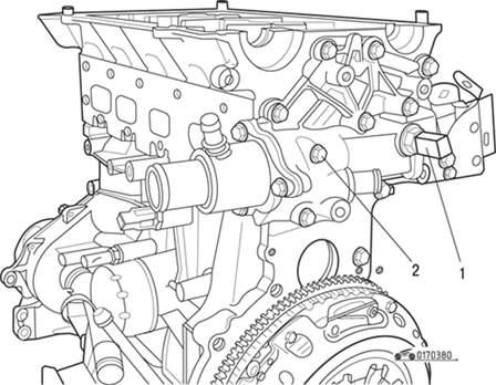 расположение датчиков на двигателе renault symbol
