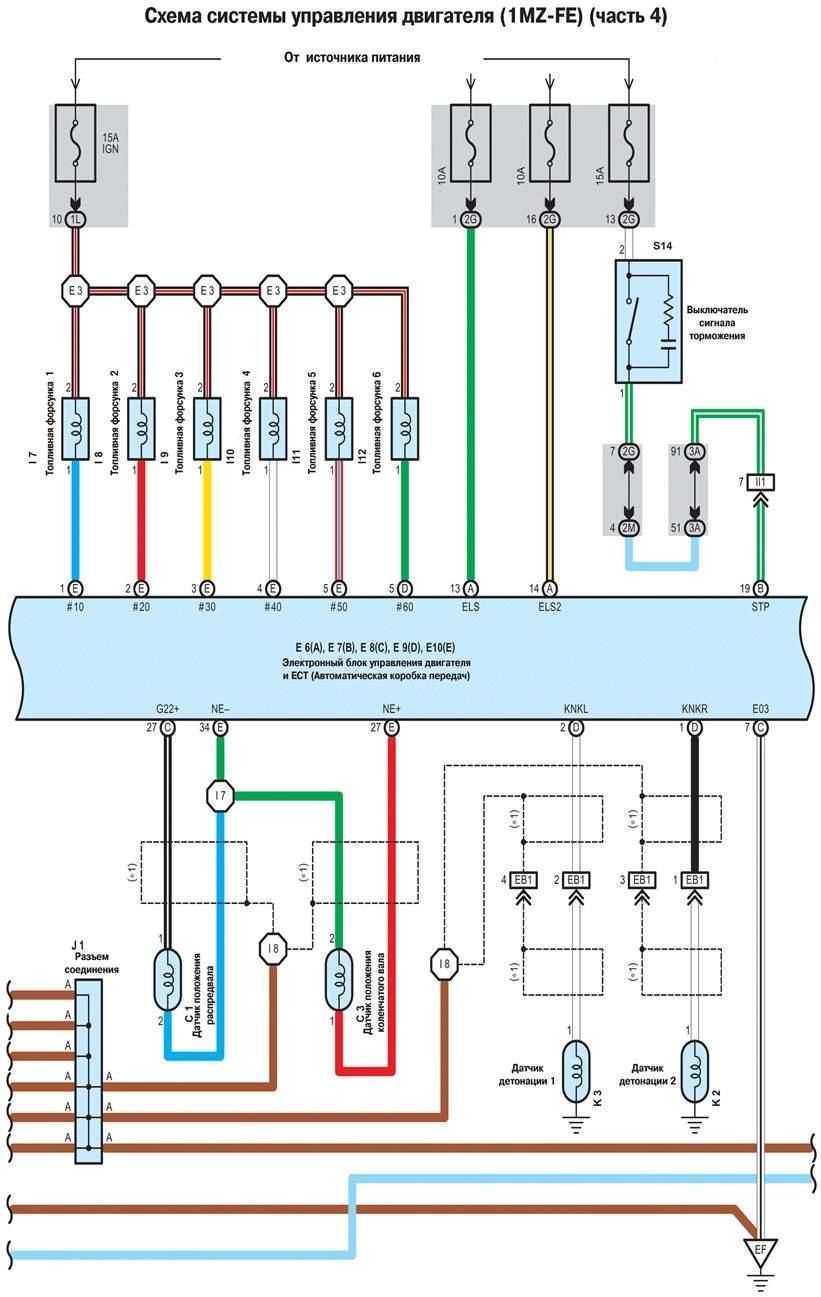 схема двигателя 1mz-fe