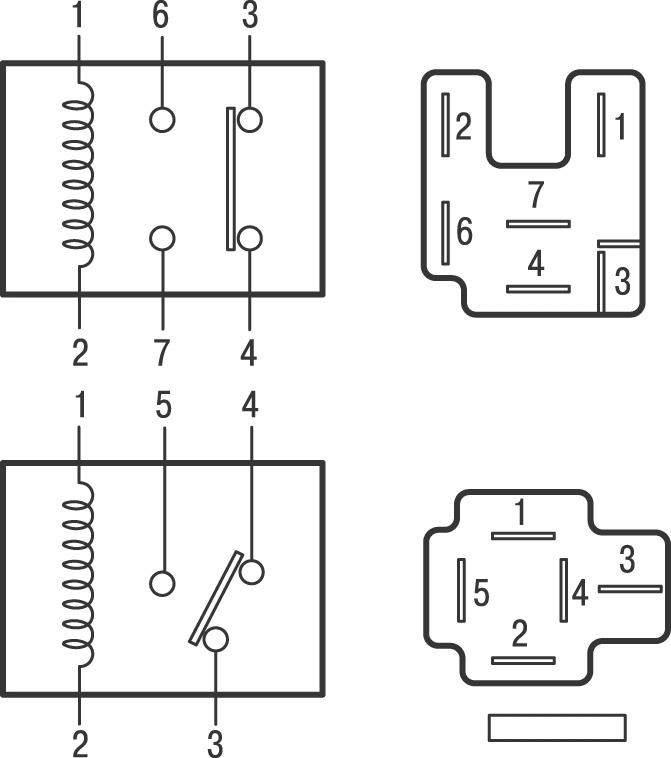 электрическая схема реле с