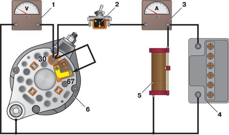 Фото №1 - как проверить напряжение генератора ВАЗ 2110
