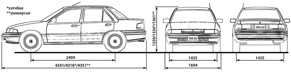 Ford Escort Gt  Lx And Mercury Tracer 1991
