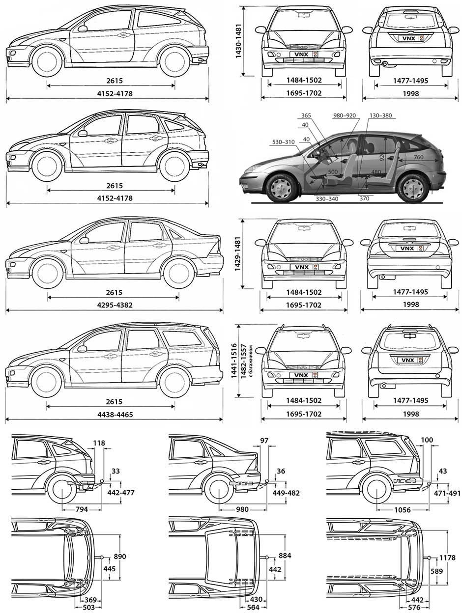 форд фокус 1американец электро схема