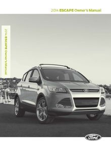 Ford Escape 2014 Owner's Manual