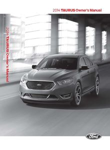 Ford Taurus 2014 Owner's Manual