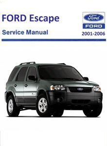 Ford Escape Mark I Service and Repair Manual