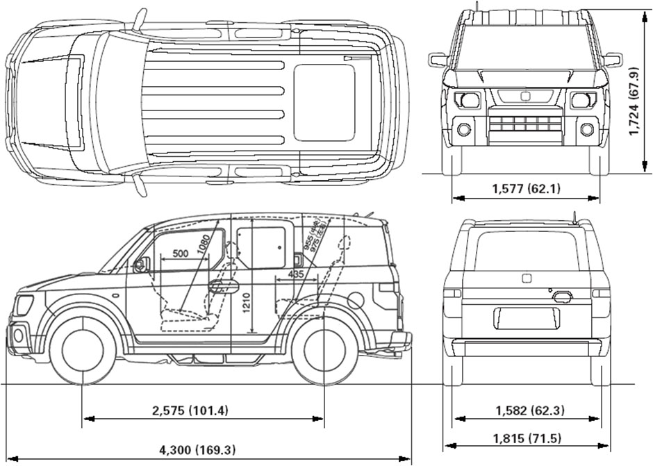 Honda element for Honda element dimensions