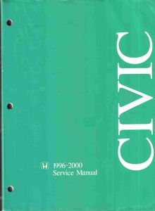 Honda Civic 1996-2000 Service and Repair Manual