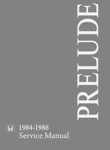 Honda Prelude 1985 / 1984 / 1986 Service and Repair Manual