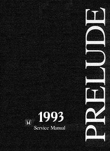 Honda Prelude 1993 Service and Repair Manual
