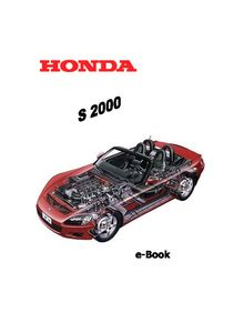 Honda S2000 1999 Service and Repair Manual