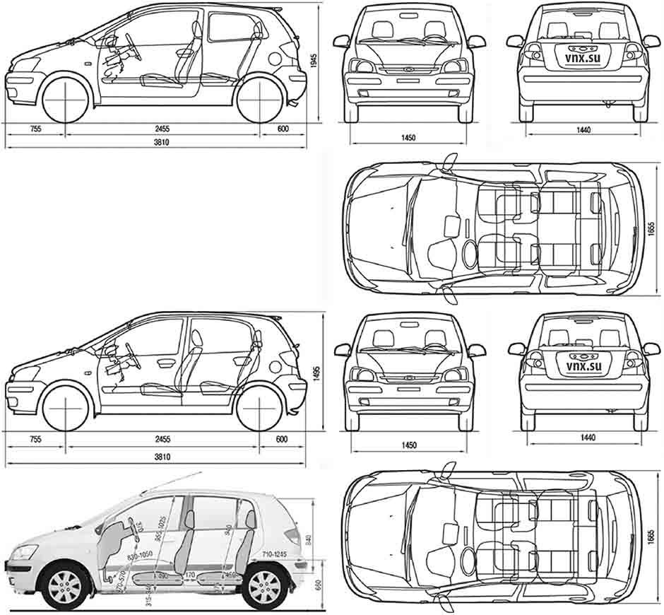 Hyundai Getz - Interior  U0026 39 Dimensions U0026 39  - How Big