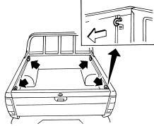 Анкерные крюки (для некоторых вариантов исполнения автомобиля)