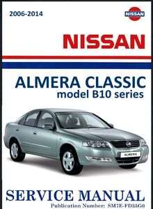 Nissan Almera Classic model B10 series Service and Repair Manual