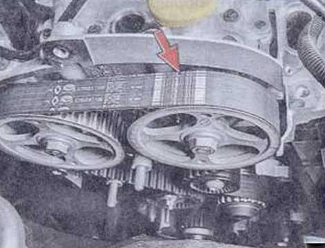 Направление установки - Renault Logan II замена и регулировка натяжения ремня привода ГРМ K4M