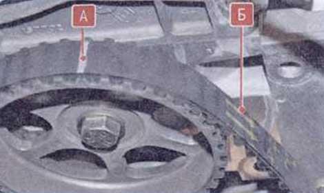 Установите ремень - Renault Logan II замена и регулировка натяжения ремня привода ГРМ K7M