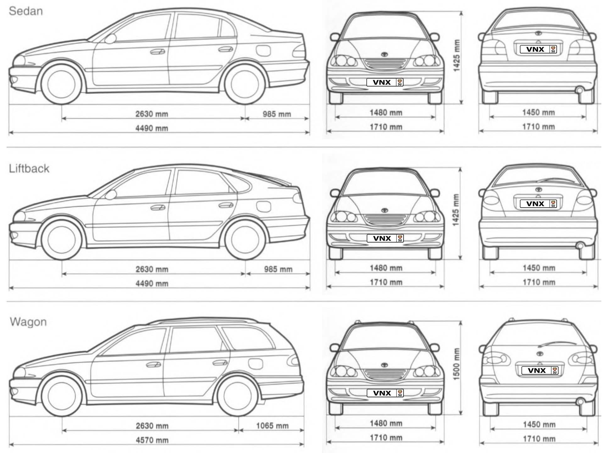 Toyota Avensis   Corona 97