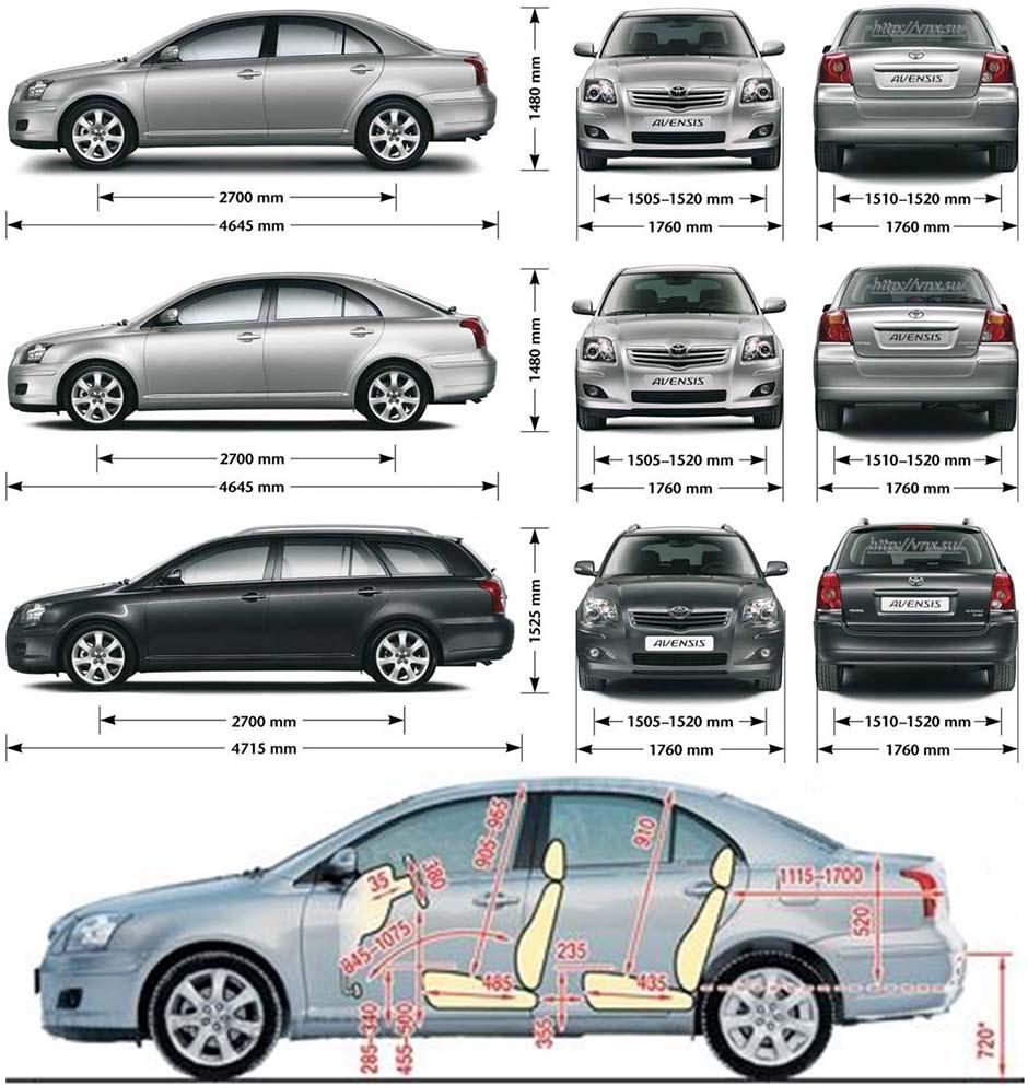 avensis схема 2003-2008 toyota