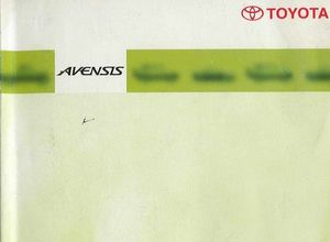 Owner's Manual Toyota Avensis T210/220/221