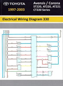 Electrical Wiring Diagrams Toyota Avensis / Corona (AT220/221, ST220, CT220 series)
