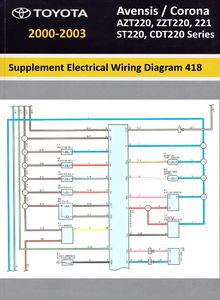 Supplement (дополнение к wiring diagram manual 330) Electrical Wiring Diagram 418 Toyota Avensis / Corona