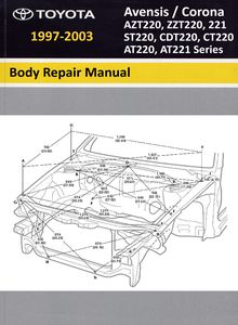 Body Repair Manual Toyota Avensis / Corona (AT220/221, ST220, CT220, CDT220, ZZT220/221, AZT220 series)