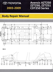 Body Repair Manual Toyota Avensis second generation (ZZT250, ZZT251, AZT250, CDT250 series)
