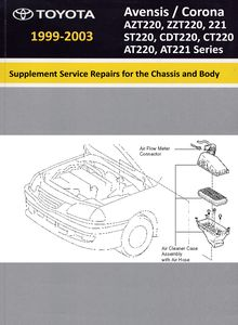 Supplement Chassis and Body Repair Manual RM 698 Toyota Avensis / Corona