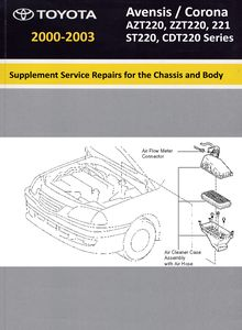 Supplement Chassis and Body Repair Manual RM 781 Toyota Avensis / Corona
