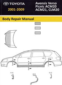 Body Repair Manual Toyota Avensis Verso/ Picnic/ SportsVan