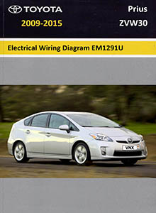 Toyota Prius ZVW30 Electrical Wiring Diagrams System Circuits EM1291U
