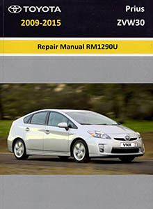 Toyota Prius ZVW30 Repair Manual RM1290U