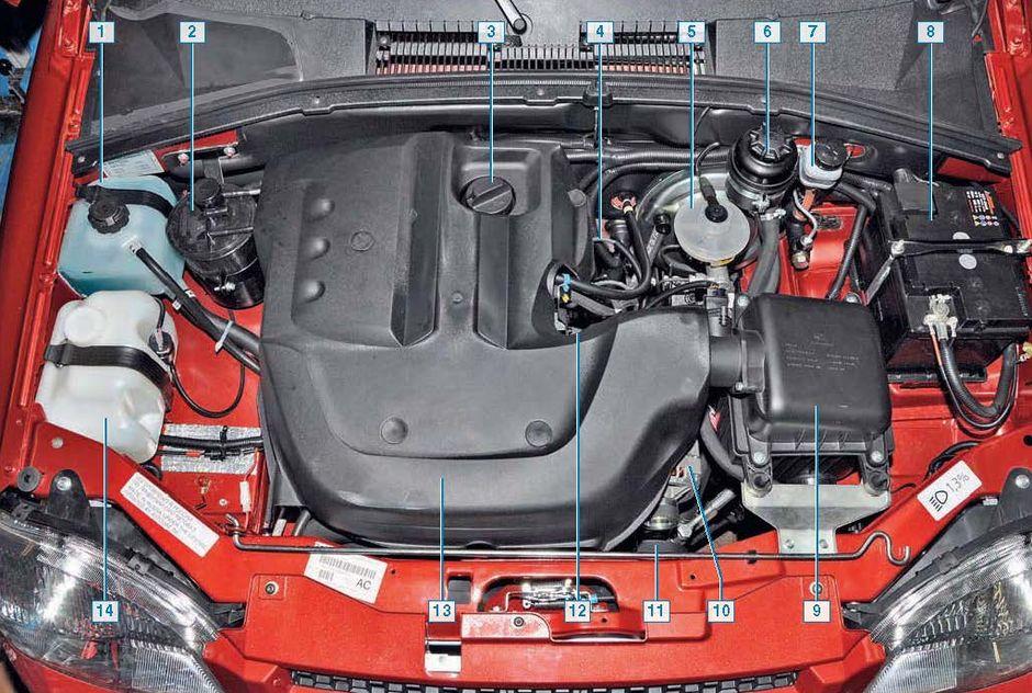 охлаждения двигателя;