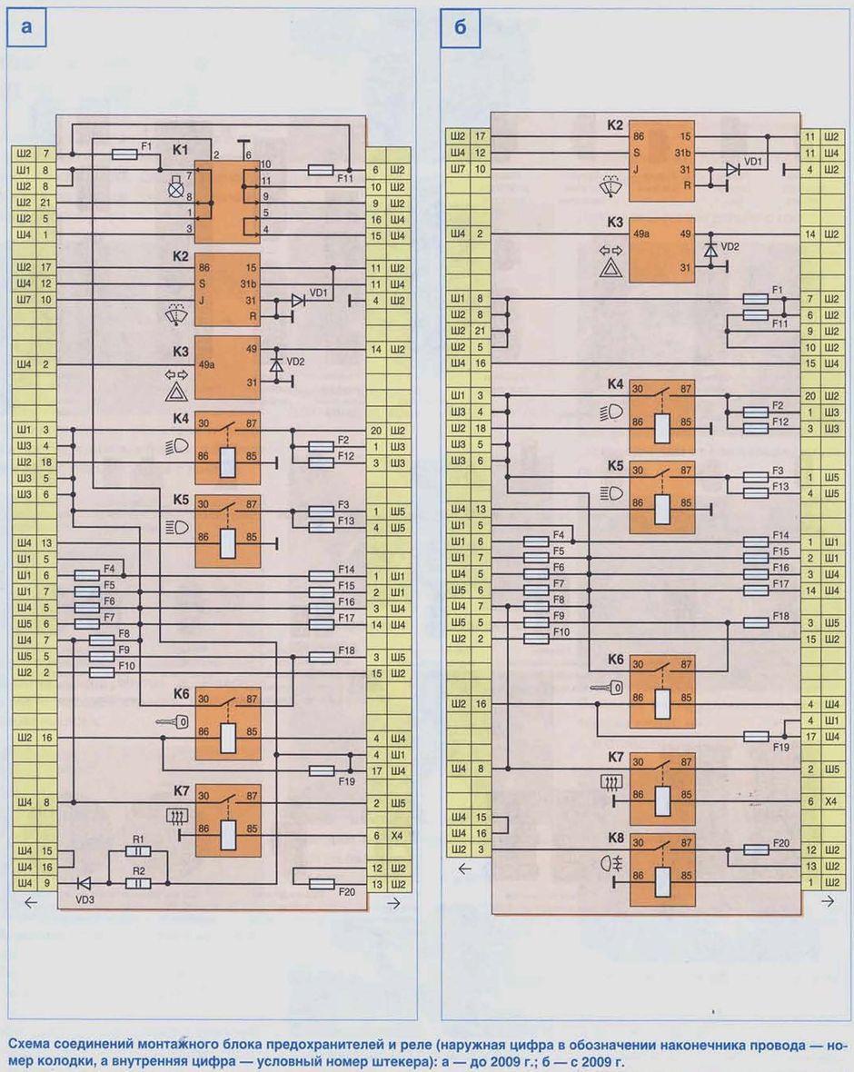 схема электрооборудования в нива шевроле