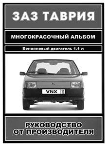 Альбом автомобиль ЗАЗ-1102 «Таврия»: Устройство и техническое обслуживание
